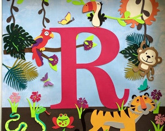 Rainforest - personalized shadow box frame