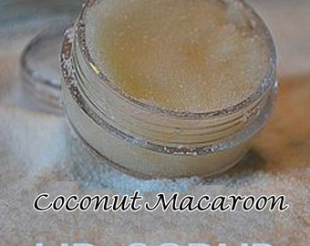 Coconut Macaroon Lip Scrub,Lemon Lip Scrub, Mint Lime Lip Scrub