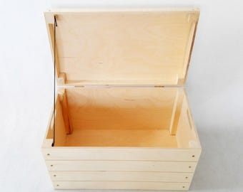 Wooden Storage Chest. Trunk. Memory Box, Storage box. Wooden Box. Storage Chest. Wooden Trunk. Keepsake Chest. Unfinished wood box. Chest.