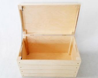 Wooden Storage Chest. Trunk. Memory Box, Storage Box. Wooden Box. Storage