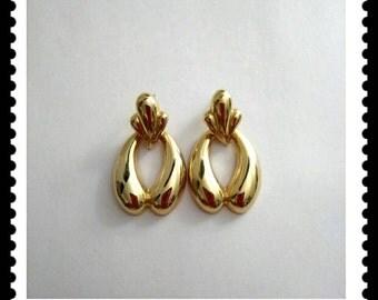 Vintage Gold Door Knocker Earrings, Dangle  Earrings, Drop Earrings, Fashion Jewelry, Accessories, Boutique