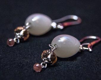 Earrings,Czech glass. Brides Jewelry, Jewelry Handmade, Dangle & Drop Earrings,