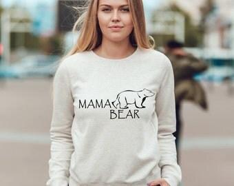 Mama Bear cute unisex sweatshirt 100% cotton, mama bear sweater, good gifting idea for mothers day gift