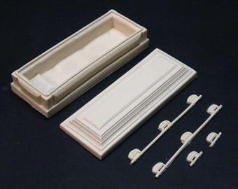 1:18 scale model funeral casket that opens hearse