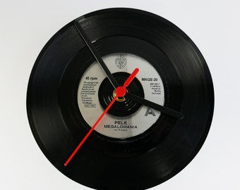 "Pele - Megalomania 7"" Record Clock"