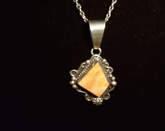 111 Orange Spiny Shell, Necklace/Indian handmade