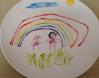 Create Your Own Plate with child's drawing