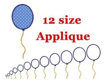 Balloon Applique Machine Embroidery.  Balloon Applique Design. Machine embroidery design. Single balloon. Embroidery design. Party applique