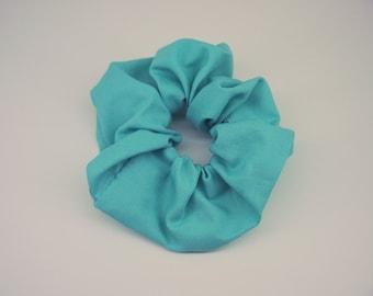 Blue Hair Scrunchie, Handmade Blue Scrunchie, Big and Soft Hair Tie, Big Blue Bobble, Stocking Filler Scrunchie, Cotton Scrunchie, Single