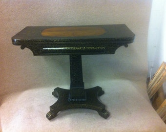Victorian Decorative Painted Rosewood Card Table