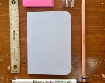 Bulk Blank Notebooks   3.5 x 5   Grey Notebook   Notebook   Sketchbook   Journal   Grey Journal   Grey Sketchbook   Travelers Notebook