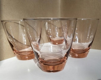 Peachy pink tumblers set of 4