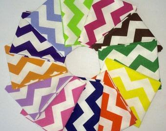Fat Quarter Bundle Sale! 12 Chevron Fabrics in assorted colors! No color repeats guaranteed.
