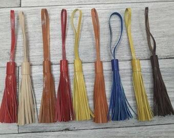 leather tassel, leather colors tassels