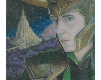 The Rightful King of Asgard - Loki Print
