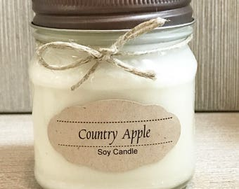 Country Apple Candle / Soy Candle /  Aromatherapy Candle