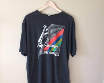 Vintage San Francisco Tourist 50/50 T Shirt