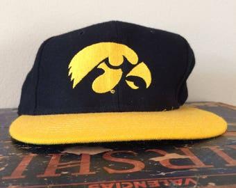 Vintage Iowa Hawkeyes Snapback Hat