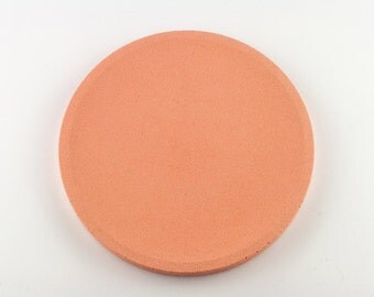 Round top in salmon concrete / / empty Pocket concrete / / decorative concrete tray / / concrete tray / / cast-iron serving tray