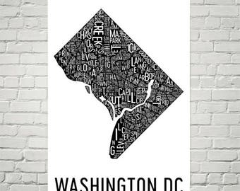 Washington Dc Wall Art dc wall art | etsy