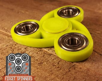 EDC Futurist Tri Spinner Fidget Toy With Caps