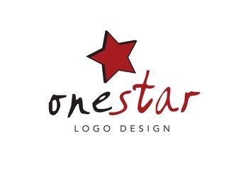 Pre-Made LOGO DESIGN - Customized with Your Name! - Star Logo - Red and Black Logo