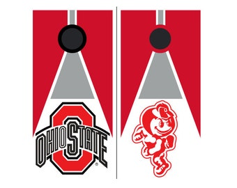 Please Read The Item Details - CUSTOM VINYL Cornhole Boards DECAL Ohio State Triangle Bag Game Sticker