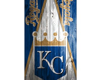 Please Read The Item Details - CUSTOM VINYL Cornhole Boards DECAL Kansas City Royals Triangle Wood Bag Game Sticker