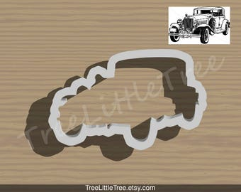 Vintage Car 1930 Cookie Cutter. Car Cookie cutter. 3D Printed. Baking Gifts. Custom Cookies. Winter Wife Gift
