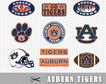 Auburn Tigers University Layered SVG PNG Cut Silhouette Studio Cameo Cricut Design Template Stencil Vinyl Decal Heat Tshirt Transfer Files