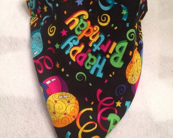 Happy Birthday/Confetti Reversible Bandana
