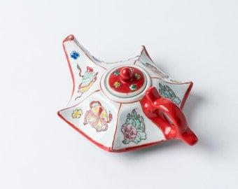 Vintage Oriental teapot, Chinese teapot, retro teapot, vintage ceramics, vintage teapot,china teapot, retro Chinese teapot,decorative teapot