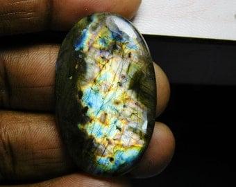 Labradorite loose stone,Multi Flash Labradorite Gemstone, Natural Labradorite Cabochon,Spectrolite Labradorite loose gemstone 58 Cts. #1092N