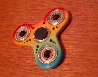 SALE // Custom Fidget Spinner with Speed Holes!!! - Custom Painted - 4 Bearing - Stress and Anxiety Relief