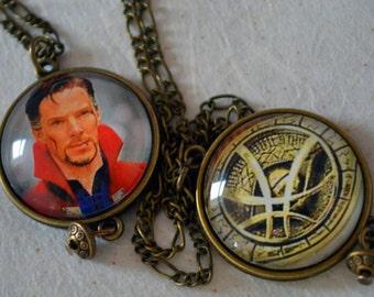 Dr Strange Pendant, Double-sided Doctor Strange Pendant, Eye of Agamotto Charm Necklace; Limited Edition