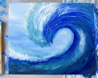 Acrylic Wave Painting