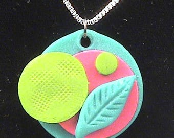 Garden inspired Pendant with 24 inch Sterling Silver Chain