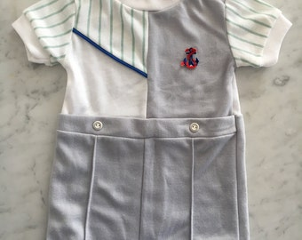 Kricket Tee Baby Boy One Piece with Sailor Detail