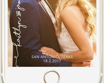 Wedding custom Snapchat geofilter, engagement snapchat geofilter, on-demand geo filter