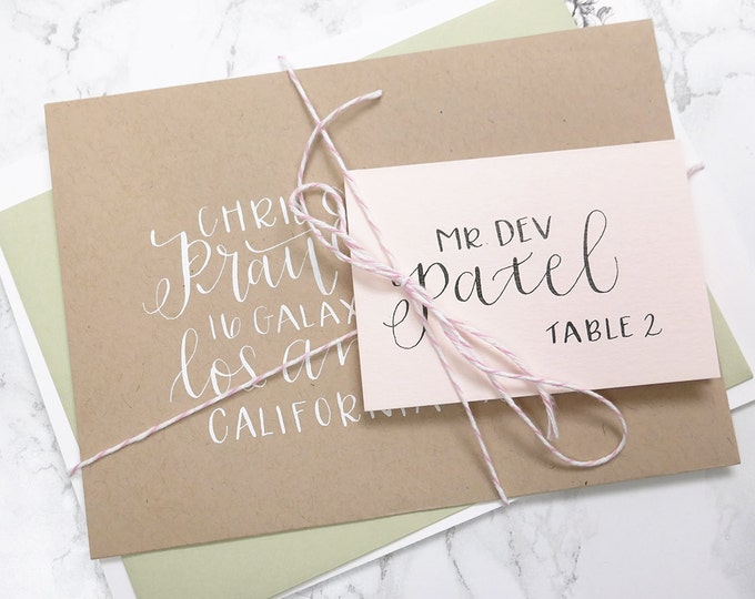 Custom Calligraphy Sample for Envelopes and Stationery