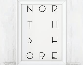 North Shore, Hawaii, Oahu, Northshore, North Shore Oahu, Hawaii Print, Hawaiian Decor, Hawaii State, Printable, Oahu Hawaii, North Shore Art