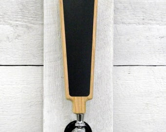 Beer tap handle kit with Premium Surface, chalkboard or white marker board. Create your own custom. Great for tap rooms and home kegerators.