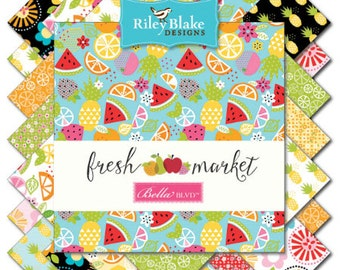 Riley Blake Designs Fresh Market 15 Fat Quarters - Great Deal!
