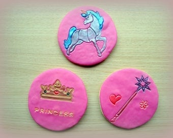 Princess & unicorn biscuits