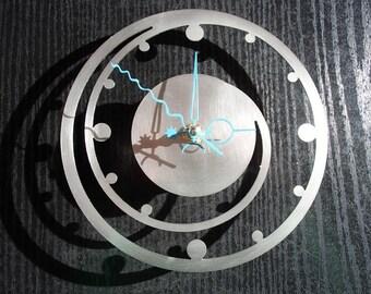 Wall clock around spiral stainless steel Mural art watch design wall clock wallclock round spiral