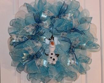 Olaf Deco Mesh Wreath / Olfa Wreath / Frozen Wreath / Deco Mesh Wreath /Disney Wreath / Geo Mesh Wreath / Olaf Geo Mesh