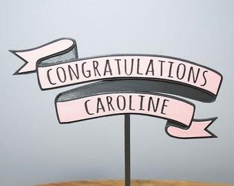 Congratulations Banner - Cake Topper - Custom
