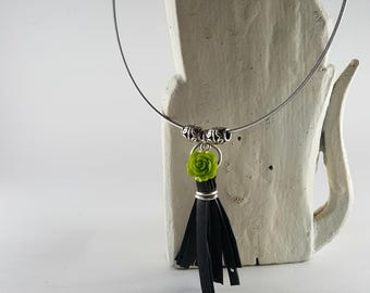 Up-cycled bicycle parts necklace