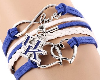 University of Kentucky UK Wildcats Infinity Bracelet Love College Basketball