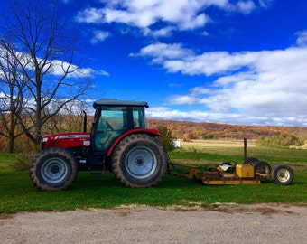 Tractor Photo Print- Photography- Country Photography- Fall Photography Wall Art